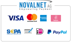 traindee® dog is pulling on leash - Secure payment processing by Novalnet Germany