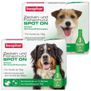 Margosa tick protection for small and big dogs. A natural flea and tick repellent spot on without chemicals from beaphar by traindee