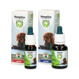 Hemp One cbd oil for dogs and cats as best calming solution for stressed dog pulling